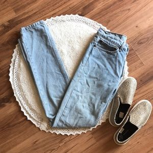 AMERICAN APPAREL button fly jeans